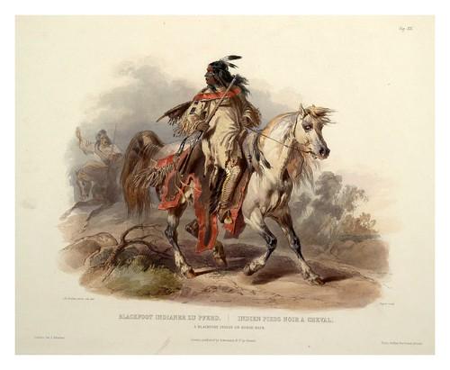 0019r-Indio Pies Negro a caballo