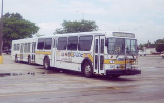Pace training buses. Bridgeview Illinois. August 2002.