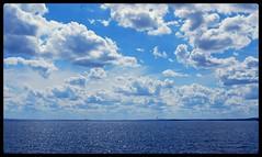 """Goin' """"upstream""""... (jami_lee) Tags: blue sky beach azul clouds photofaceoffwinner pfogold thechallengefactory"""