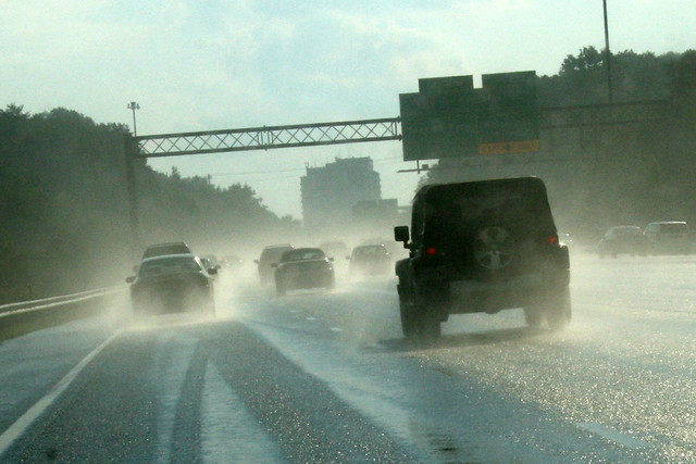 dangerous driving in the rain [I know I shouldn't be doing this, but ...]