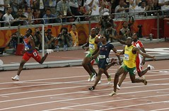 Usain Bolt smashing the competition in 9.69