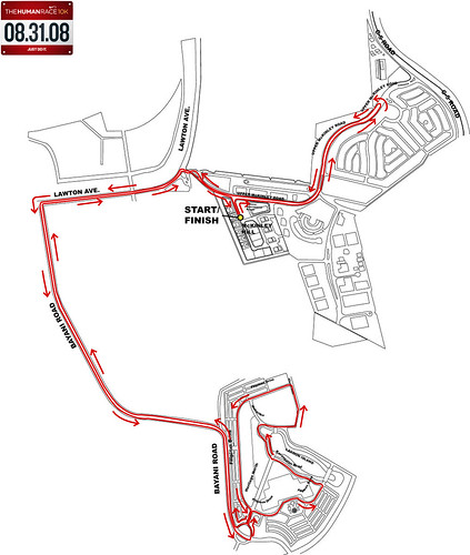 Nike10km race route