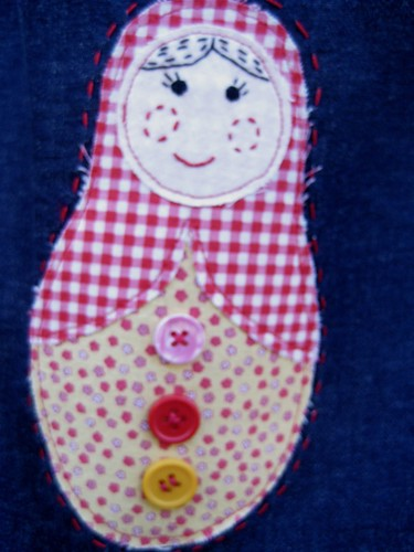 Mia P's matroyshka bag doll detail