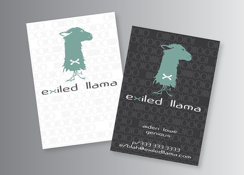 Exiled Llama Business Card