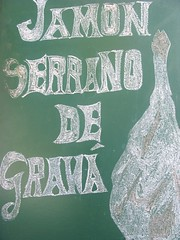 Jamon blackboard, Granada, Spain