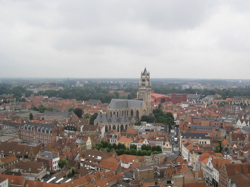 Brugge - climbing the belfry