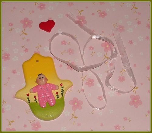 Baby Girl Hamsa (polymer clay)