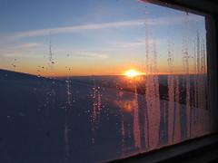 Sonnenuntergang in der Hütte