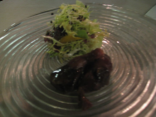 Abac: Pigeon and salad