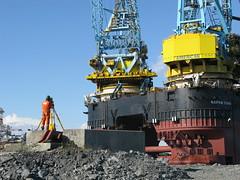 Saipem 7000 Positioning (thulobaba) Tags: station norway lift crane offshore engineering s7000 total heavy survey positioning barge surveyor stord frigg decommissioning saipem fugro saipem7000 oilandgas sscv fsltd