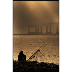 Fishing at the Second Severn Crossing, Sudbrook (-terry-) Tags: bridge river flickr crossing severn riversevern explore thumbsup secondseverncrossing flickrexplore seeninexplore flickrchallengewinner 15challengeswinner