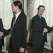 20060722 - Greg & Nicole's wedding - 5 - reception - 3 - friends - Nate, Greg - shaking hands - IMG_9018-diptych-IMG_9019