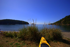 Deception Pass (SusanCK) Tags: sky beach water bay bluesky kayaking colorcontrast susancksphoto