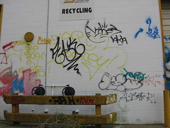 089 (Steph M Clark) Tags: road city urban art fall abandoned graffiti closed metro lexington kentucky neglected september m warehouse louisville 2008 lousiville 1373