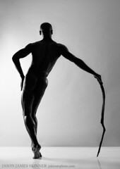 Balance (skinr) Tags: blackandwhite abstract man silhouette cane architecture pose nude construction shadows highcontrast dancer stick citycenter malemodel studiolighting wwwjskinnerphotocom jasonjamesskinner