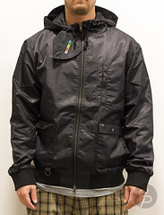 Staple Medial Flight Jacket Black