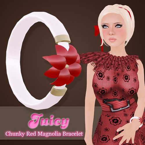 Juicy Chunky Red Magnolia Bracelet by you.