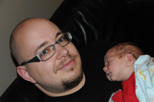 Chris and his son Zane