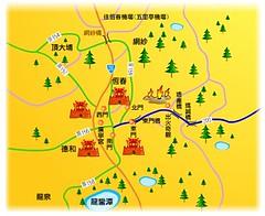 恆春古城簡圖