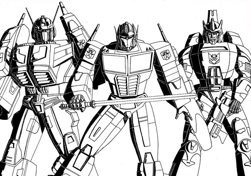 Optimus Prime Galvatron and Star Saber