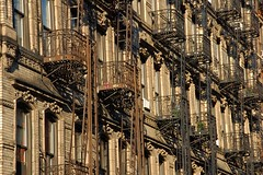 Fire (Niels Andeweg) Tags: nyc newyorkcity friends usa ny building architecture stairs facade d50 fire aperture nikon escape apartment manhattan lowereastside sigma front emergency staircases 18200mm f3563
