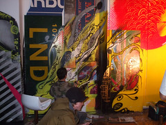 101 Crew Show - Live graff (LotzUp) Tags: show streetart art greek graffiti brighton artist gallery greece artists artspace kai1 fors 101ers 101crew thekrah greekartist drren visualimprints