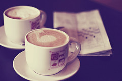 yours and mine (the cheshire smile) Tags: coffee cafe crossword latte cappuccino