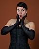 Mary (nickburlett) Tags: orange woman black mary gloves corset sekonic afnikkor50mmf18d sekonicl358