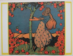 Frau Holle (allerleirau) Tags: tree apple illustration fairytale vintage children book artnouveau fairytales jugendstil ilustracin brothersgrimm pfel kinderbuch gebrdergrimm frauholle motherhulda