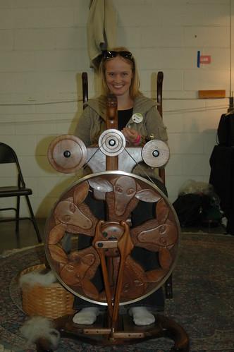 Goldin spinning wheel