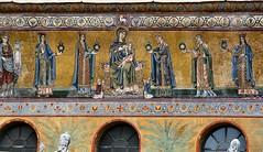 Santa Maria in Trastevere detail Rome (Mike Fairbanks) Tags: italy rome roma ancient ruins catholic roman swiss basilica guard empire archeology rom romanempire