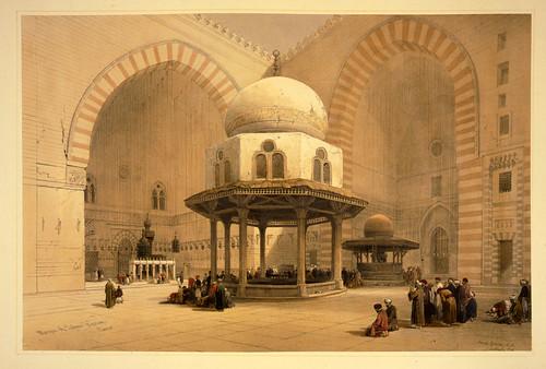 006- Mezquita del sultan Hassan en el Cairo-David Roberts- 1846-1849