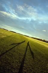 2 Shadows (beanser ) Tags: ireland shadow sky dublin green mike grass clouds sunrise canon geotagged outside earlymorning wideangle fields canonrebel canondigitalrebel canondslr 1022mm familly phoenixpark meandmike us2 canon450d digitalrebelxsi canonrebelxsi rasterman74 beanser