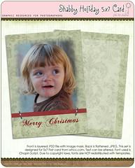 Shabby Holiday 5x7 Card