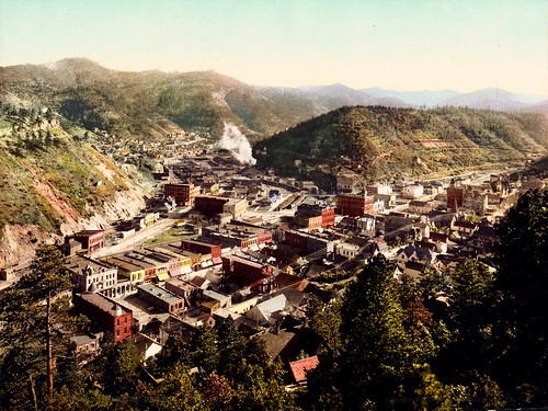 Deadwood, South Dakota, 1900; ← Oldest photo