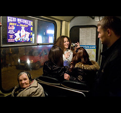 Night bus (Swiatoslaw Wojtkowiak) Tags: camera woman bus girl night fun crowd transport lviv ukraine commute lvov ukraina ucraina  ukrajna ucrnia oekrane