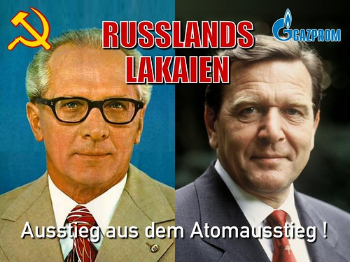 Gerhard Schroeder was Gazprom's lackey
