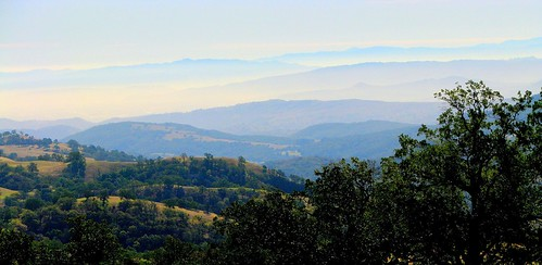 Santa Cruz mountains from the foot of the Diablos.