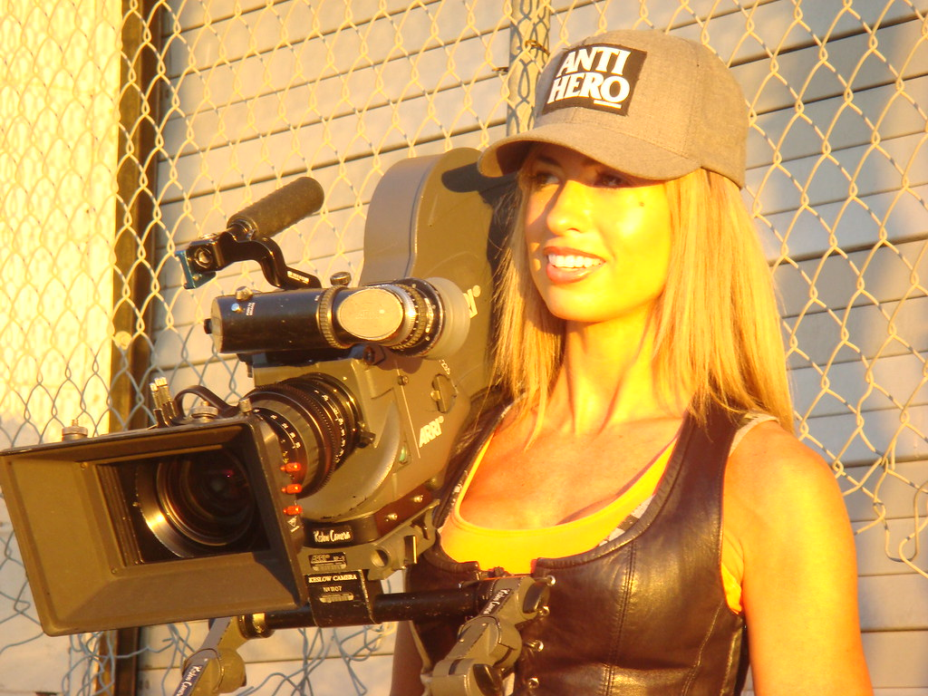 Alisa Daglio and new tricked out HD Red camera