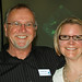 Tacoma Arts Commissioner Phil Hill with Amy McBride