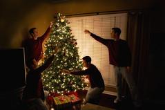 christmas time (DerekBoston) Tags: christmas holiday tree night lights nc nikon warm charlotte northcarolina tokina gifts ornaments nikkor d300 derekboston bostonperspective