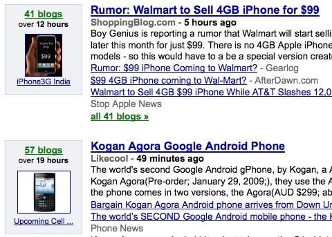 Google Blog Search Topics