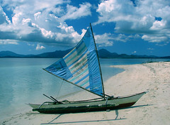 Would you Like to Sail? (Storm Crypt) Tags: sea beach coast boat sand sailing philippines shoreline resort sail coastline pilipinas palawan beachresort beachhead pandanisland wowphilippines provinceofpalawan