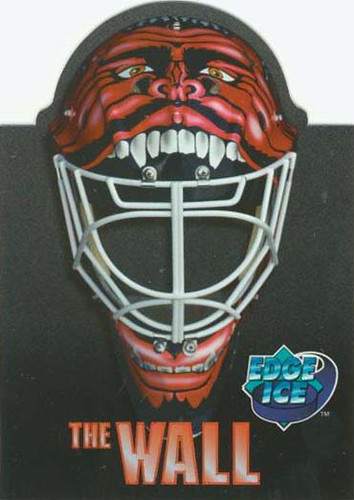 Mike Dunham, Albany River Rats, AHL, 95-96 Edge Ice The Wall, hockey cards
