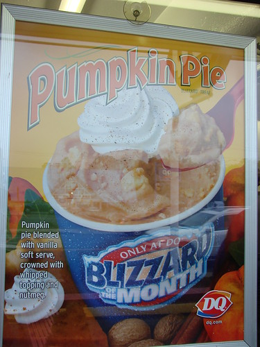 Pumpkin Pie Blizzard from Dairy Queen