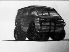 Delica (magnumleigh) Tags: drawings doodles sketches mitsubishi delica chickenscratch