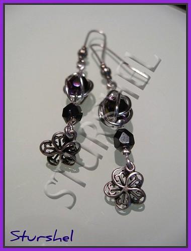 Pendientes Alambre Purple Velvet&Helmatite