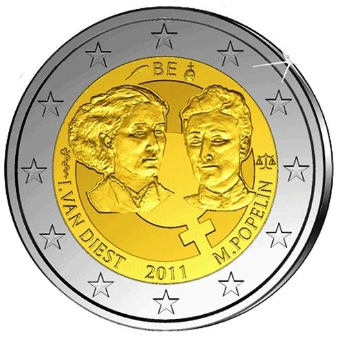2 Euro Belgicko 2011, 100. výročie Medzinárodného dňa žien