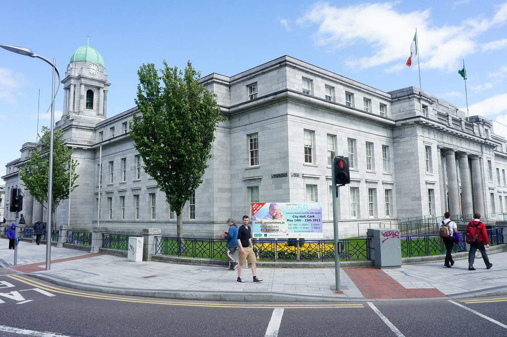 Cork - City Hall, a limestone structure which replaced the old City Hall
