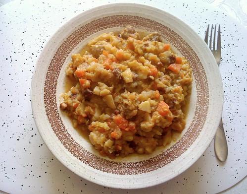 Veg stew with meatballs / Gemüseeintopf mit Fleischbällchen